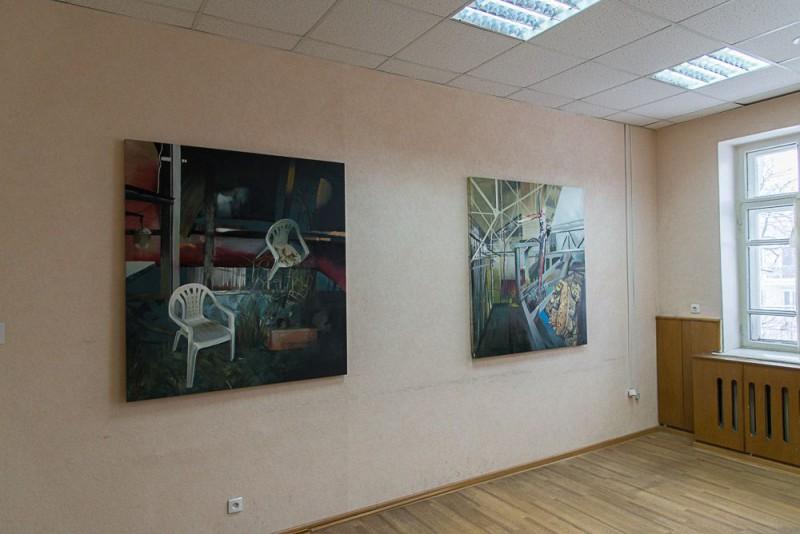 Кирилл Гаршин  — серия «Сад снедаемой улитки», холст, акрил, масло, 130х140 см. 2017